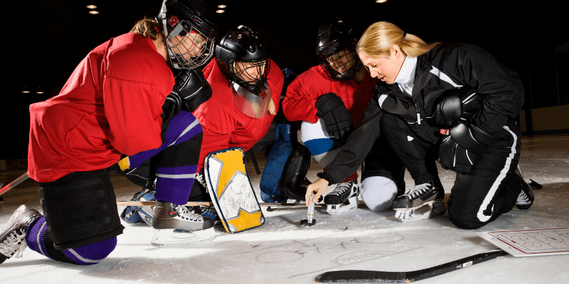 financial coaching and hockey team