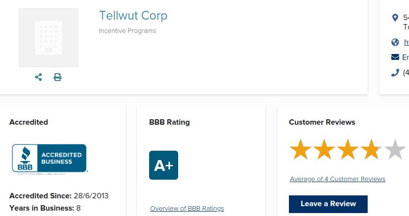 Tellwut BBB score
