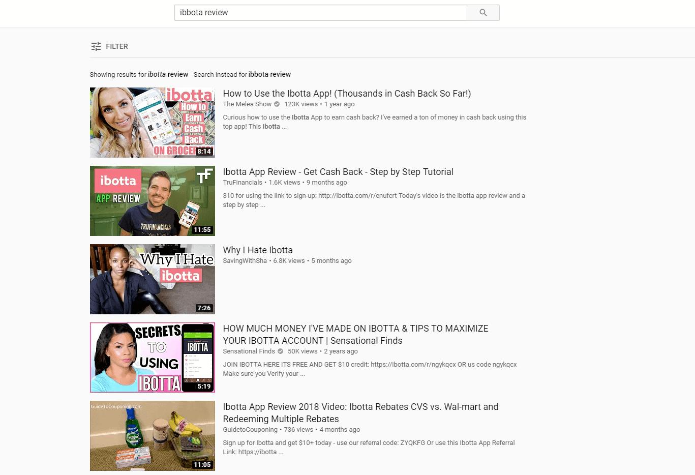 Youtube Ibotta