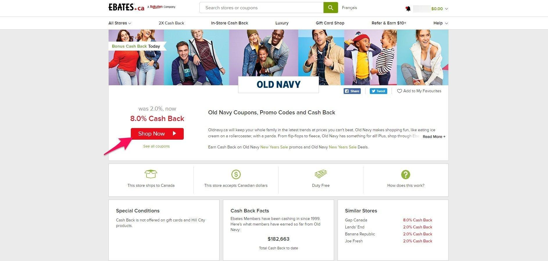 shop now at Old Navy
