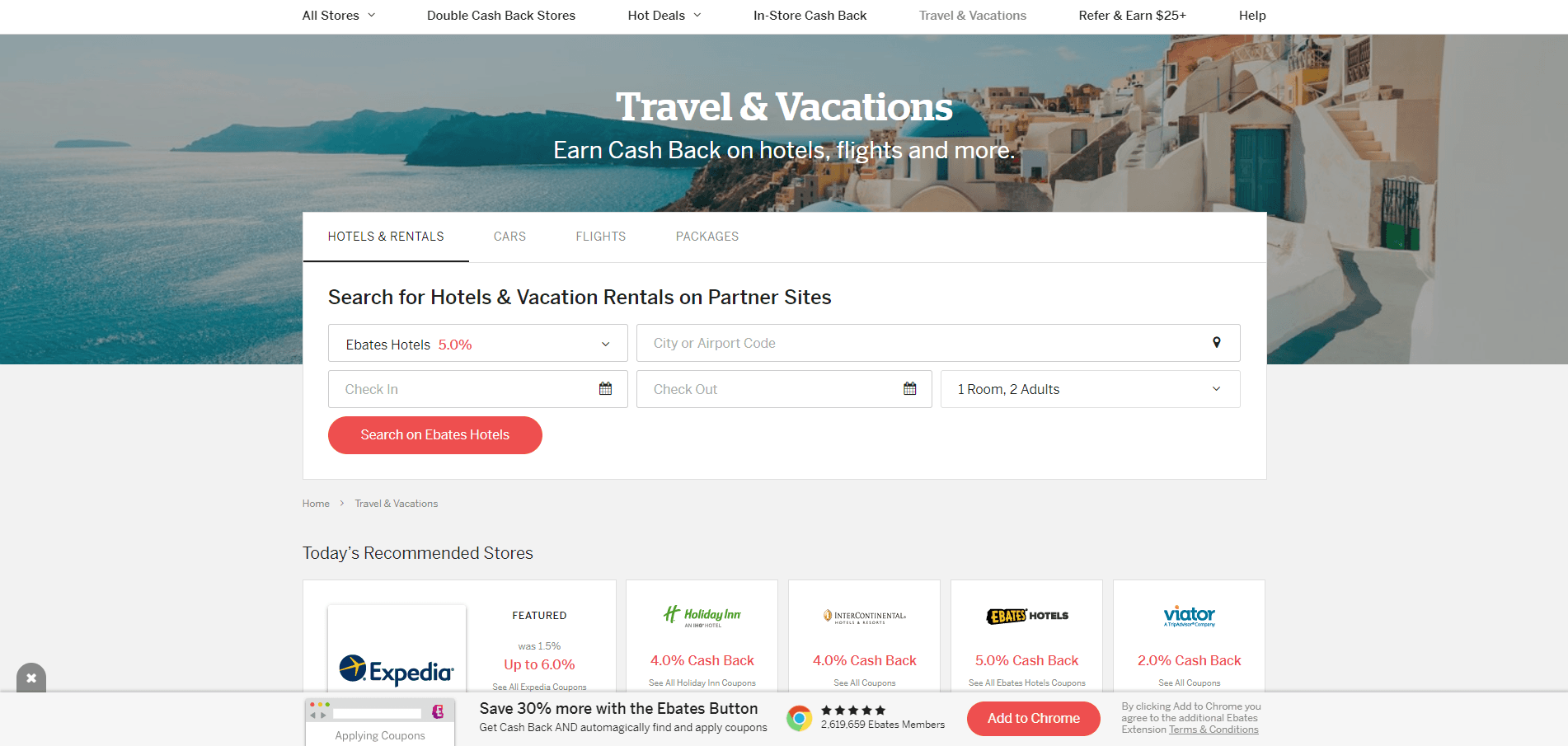 travel and vacations with Rakuten