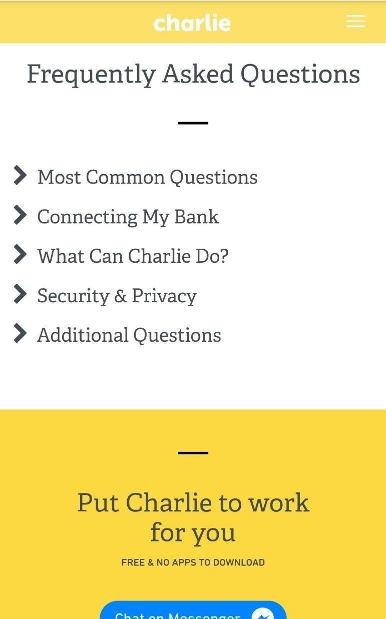 hi charlie frequently asked questions