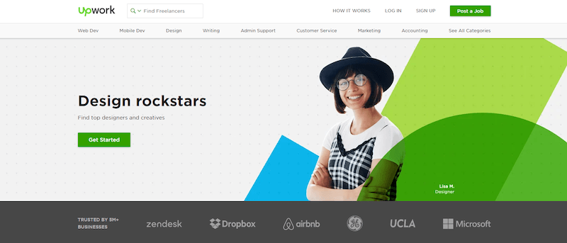 Upwork is a freelance website