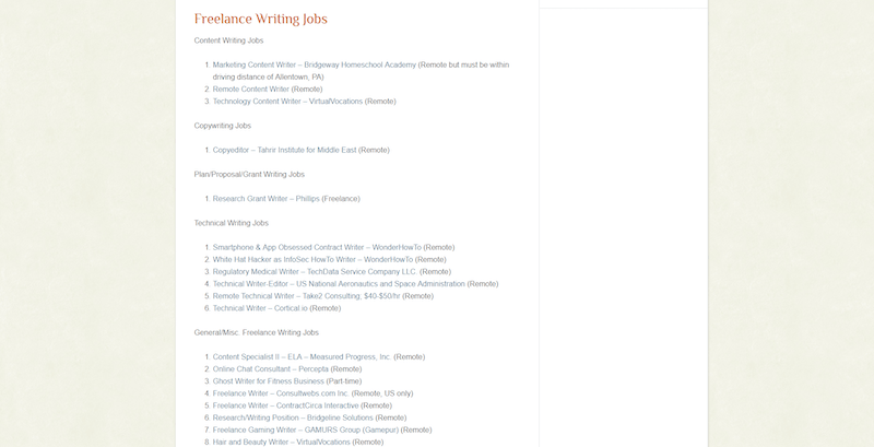job board for freelance writers