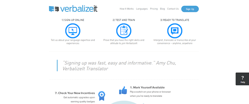 Verbalizeit Homepage