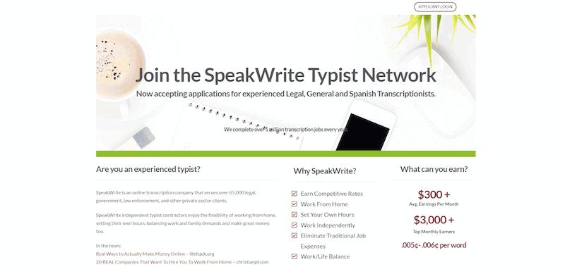 SpeakWrite Homepage