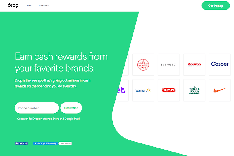 Use Drop to earn free gift cards
