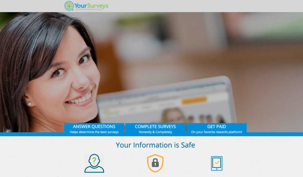 yoursurveys homepage
