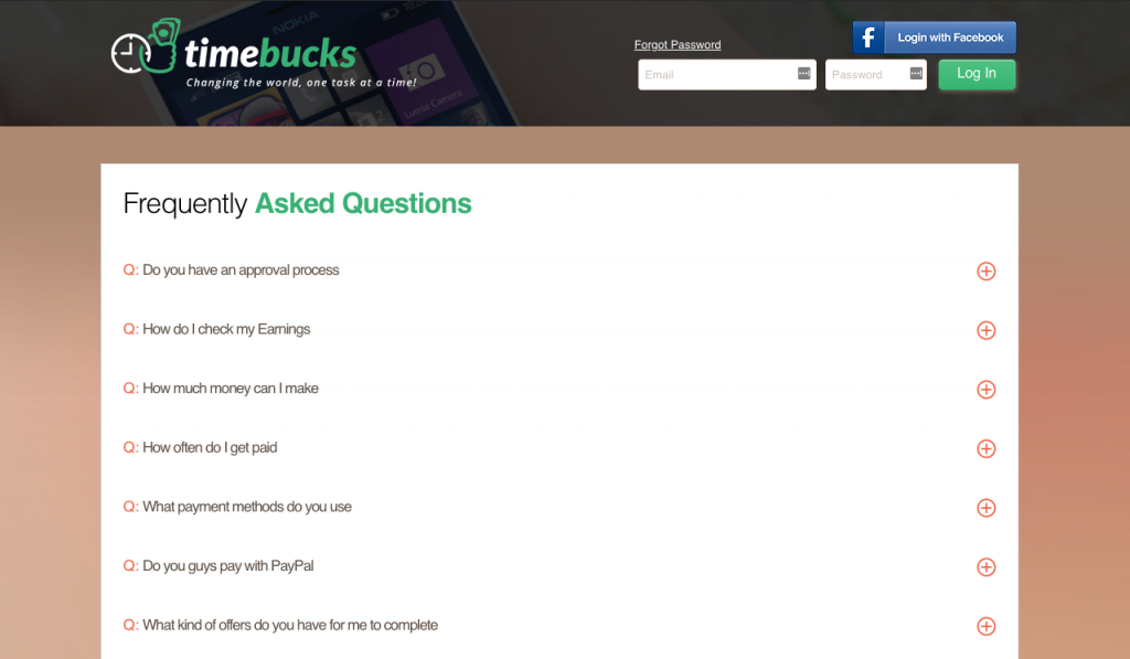 Timebucks FAQ